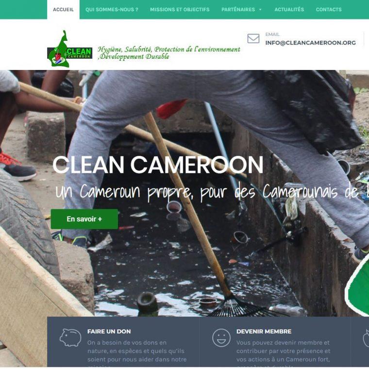 Creation de site internet association clean cameroun effectué par Didacweb