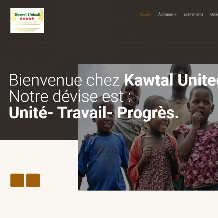 Creation de site internet kawtal united effectué par Didacweb