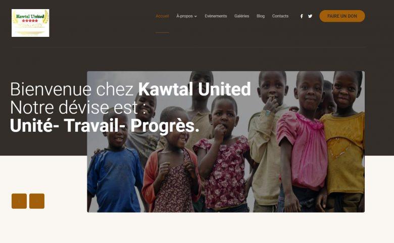 Creation de site internet kawtal united effectué par Didacweb