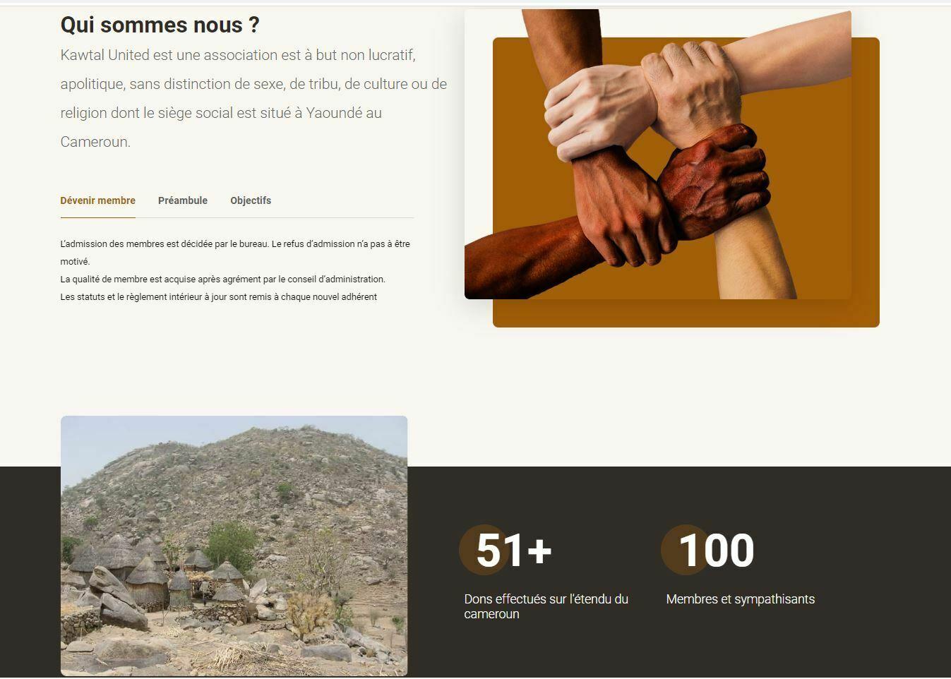 Creation de site internet fondation secours effectué par Didacweb