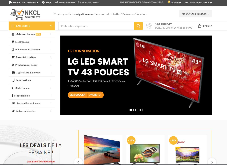 site web de nkclmarket.com par didacweb 01