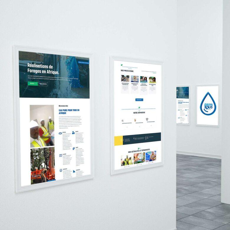 site vitrine de eau pure